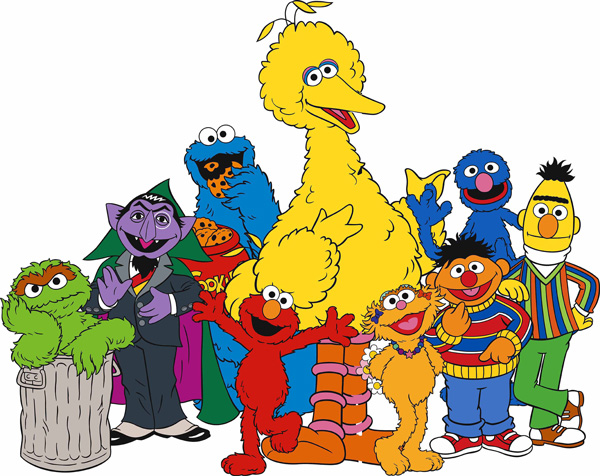 Sesame Street Cartoon Character