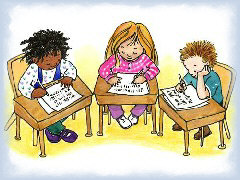 children-writing